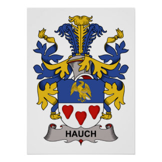 Hauch Family Crest Print