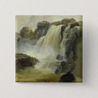 Haugfoss in Norway, 1827 Button