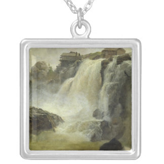 Haugfoss in Norway, 1827 Silver Plated Necklace