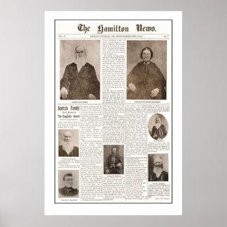 Haughey Family Reunion-Sept 16, 1904- White back Poster