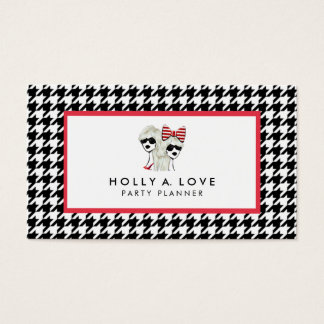 HAUGHTY HOUNDSTOOTH CARD | B&W | CUSTOMIZABLE