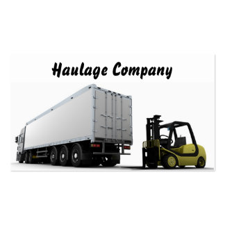 Haulage Company Business Card