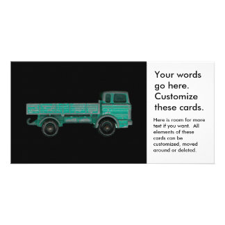 Haulers movers transport vintage toy truck photo card