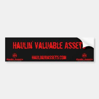 Haulin' Assets - Bumper Sticker Car Bumper Sticker
