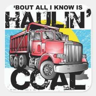 HAULIN' COAL SQUARE STICKER