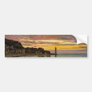 Hauling a Boat Ashore, Honfleur by Claude Monet Bumper Sticker