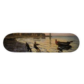 Hauling a Boat Ashore, Honfleur Skateboard