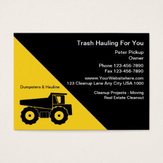 Hauling Business Cards