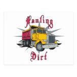 Hauling Dirt Dump Truck Postcard