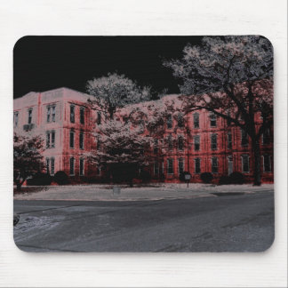HAUNTED ASYLUM RED MOUSE PAD