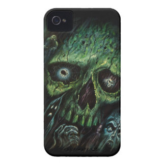 Haunted Attraction Skulls Ghosts Vintage iPhone 4 Case-Mate Cases