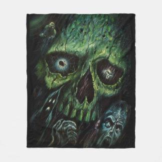 Haunted Attraction Skulls Ghosts Vintage Fleece Blanket