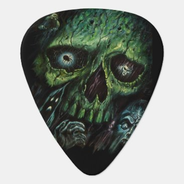 themonsterstore Haunted Attraction Skulls Ghosts Vintage Guitar Pick