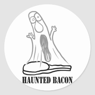 Haunted Bacon Classic Round Sticker