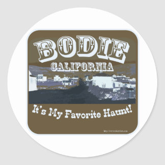 Haunted Bodie California Classic Round Sticker