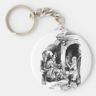 Haunted by Three Spirits Basic Round Button Keychain