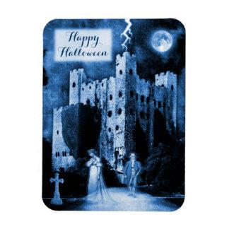Haunted Castle Gothic Happy Halloween Rectangular Photo Magnet
