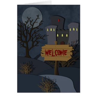 Haunted Castle Halloween Invitation Greeting Card