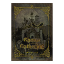 Haunted Castle Halloween Party Invitation