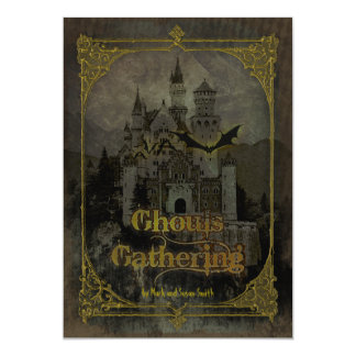 "Haunted Castle Halloween Party Invitation 5"" X 7"" Invitation Card"