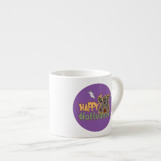 Haunted Castle Happy Halloween medallion Espresso Cup