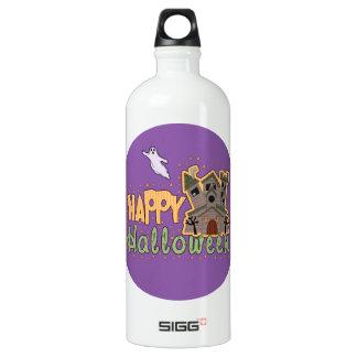 Haunted Castle Happy Halloween medallion Water Bottle