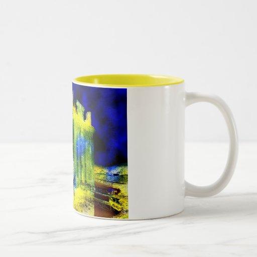 Haunted Castle Two-Tone Coffee Mug