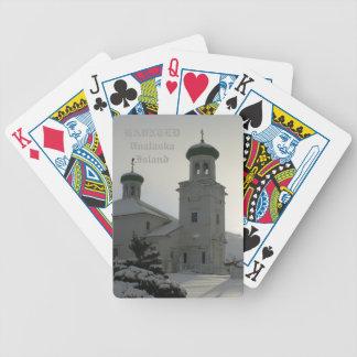 Haunted Church on Unalaska Island Bicycle Playing Cards