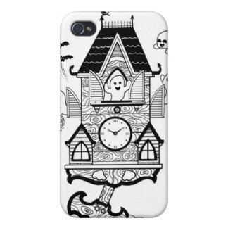 Haunted Clock iPhone 4 Cases