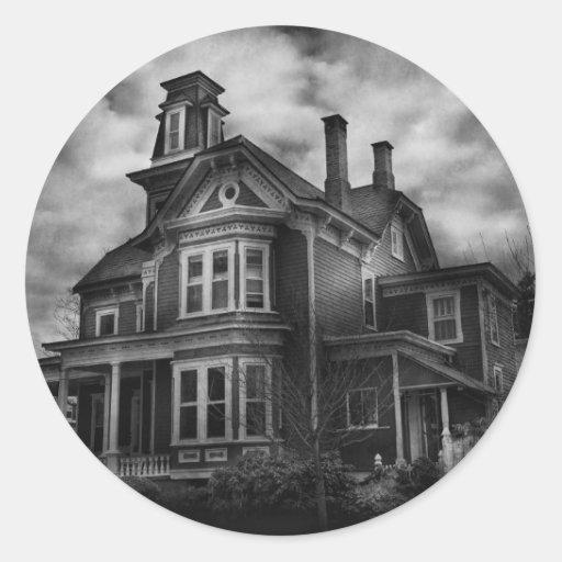 Haunted - Flemington, NJ - Spooky Town Round Sticker