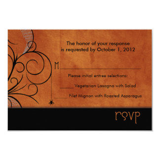 """Haunted Forest RSVP Announcements 3.5"""" X 5"""" Invitation Card"""
