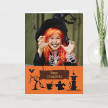 Haunted Fun Halloween Customizable Photo Card