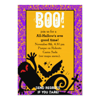 Haunted Ghost dead body halloween Party 5x7 Paper Invitation Card