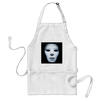 Haunted Ghostly Like Face.jpg Adult Apron