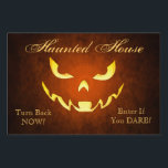 """Haunted Goblin Smile Orange Halloween Yard Sign<br><div class=""""desc"""">Make your yard the talk of the neighborhood this Halloween with one of our great Halloween Yard Signs. See more great Halloween party styles at TheInspiredEdge.com</div>"""