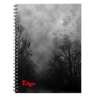 Haunted Gothic Sky Custom Notebook