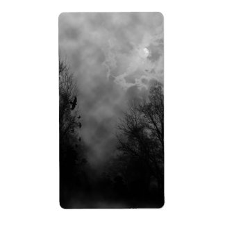 Haunted Gothic Sky Shipping Label