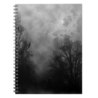 Haunted Gothic Sky Spiral Notebook