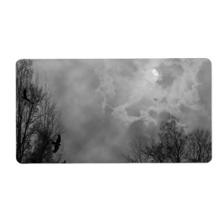 Haunted Gothic Sky with Ravens Personalized Shipping Label