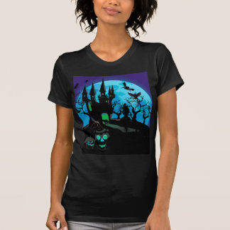 Haunted Halloween Castle 4 T Shirts
