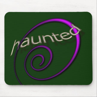 Haunted Halloween Emerald Mouse Pad
