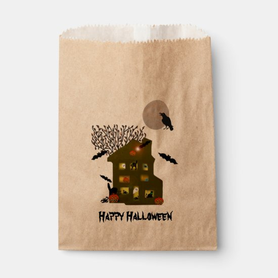 Haunted Halloween Favor Bag