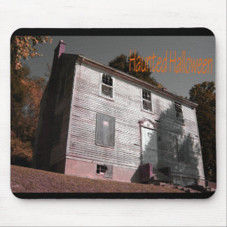 Haunted Halloween Home Mouse Pad
