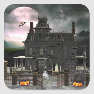 Haunted Halloween House 2 Sticker