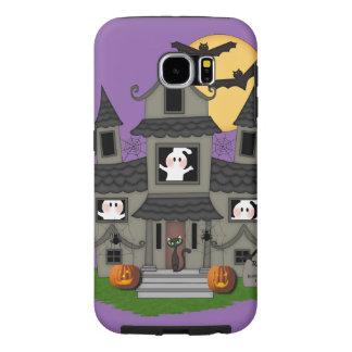 Haunted Halloween House Samsung Galaxy S6 Cases