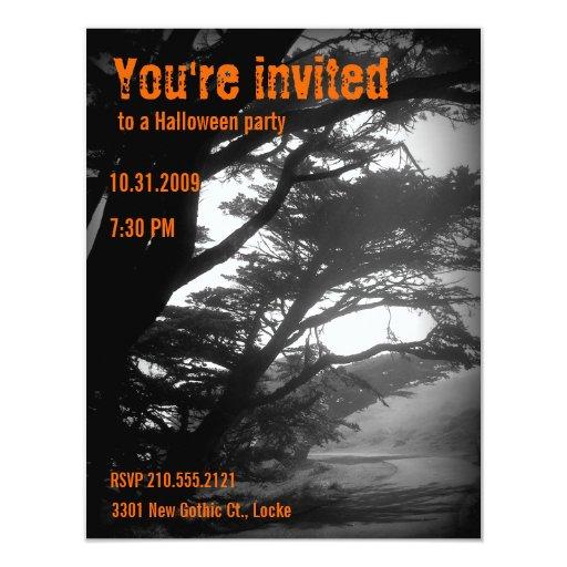 Haunted Halloween Invitations