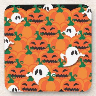 Haunted Halloween Pumpkin Patch Ghosts Beverage Coasters