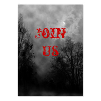 Haunted Halloween Sky Invitation Business Card