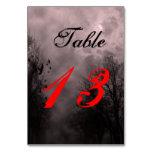 Haunted Halloween Sky Red Mist Custom Table Card