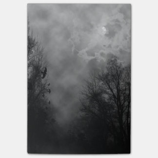 Haunted Halloween Sky with Ravens Post-it® Notes